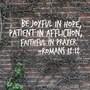 Romans 12:12 Prayer Journal be Faithful in Prayer