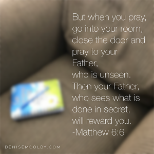 Prayer journal chair matthew 6:6 sit and pray
