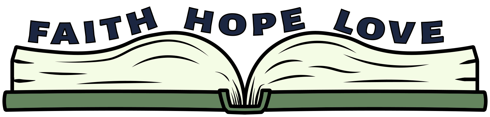 denisemcolby faith hope love with book logo