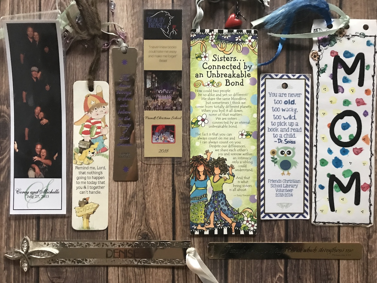 Photo of a small sample of Denise M. Colby's bookmark collection