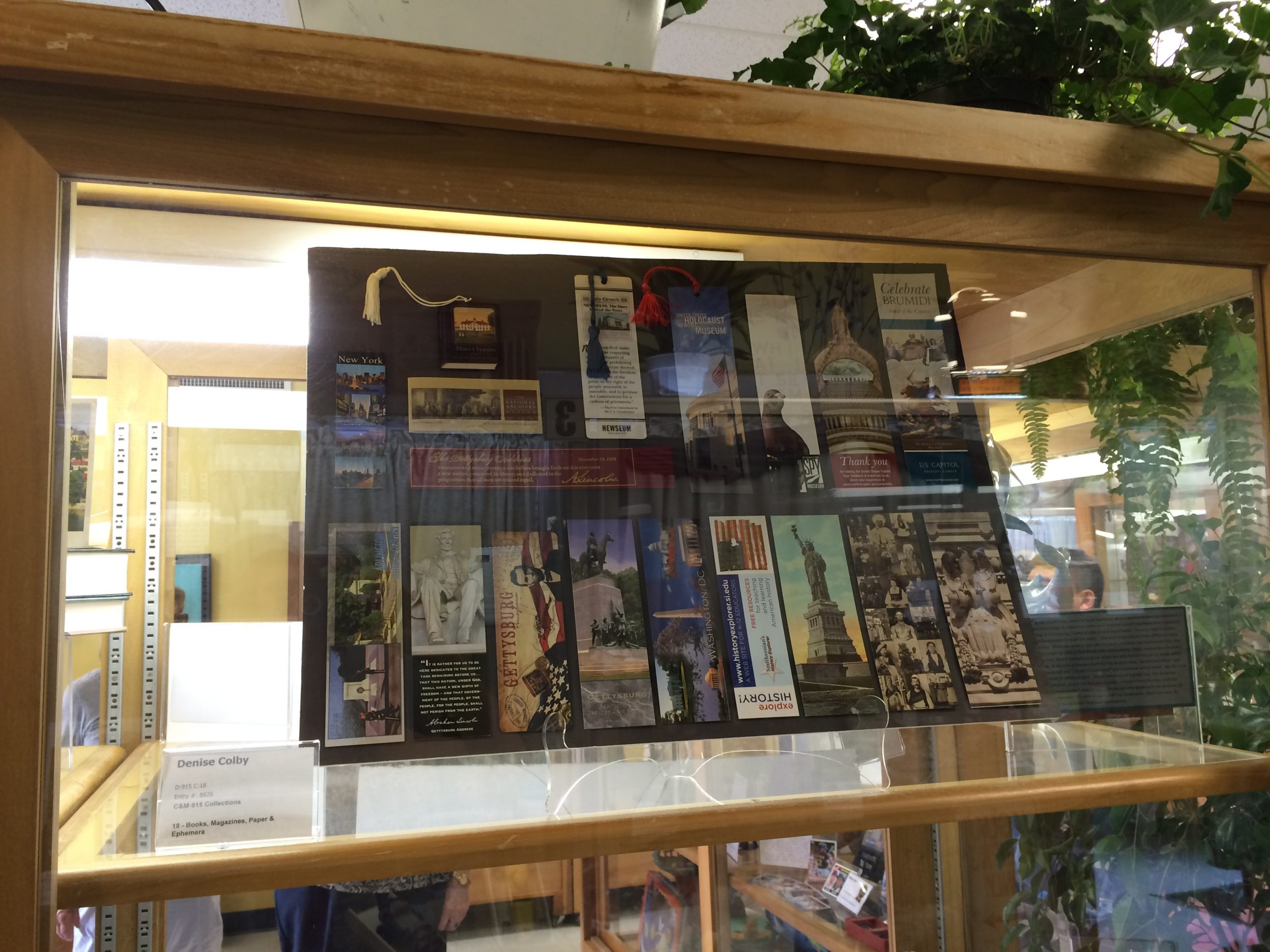 Photo of Bookmarks collected by Denise M. Colby on her DC/NY Trip in 2015