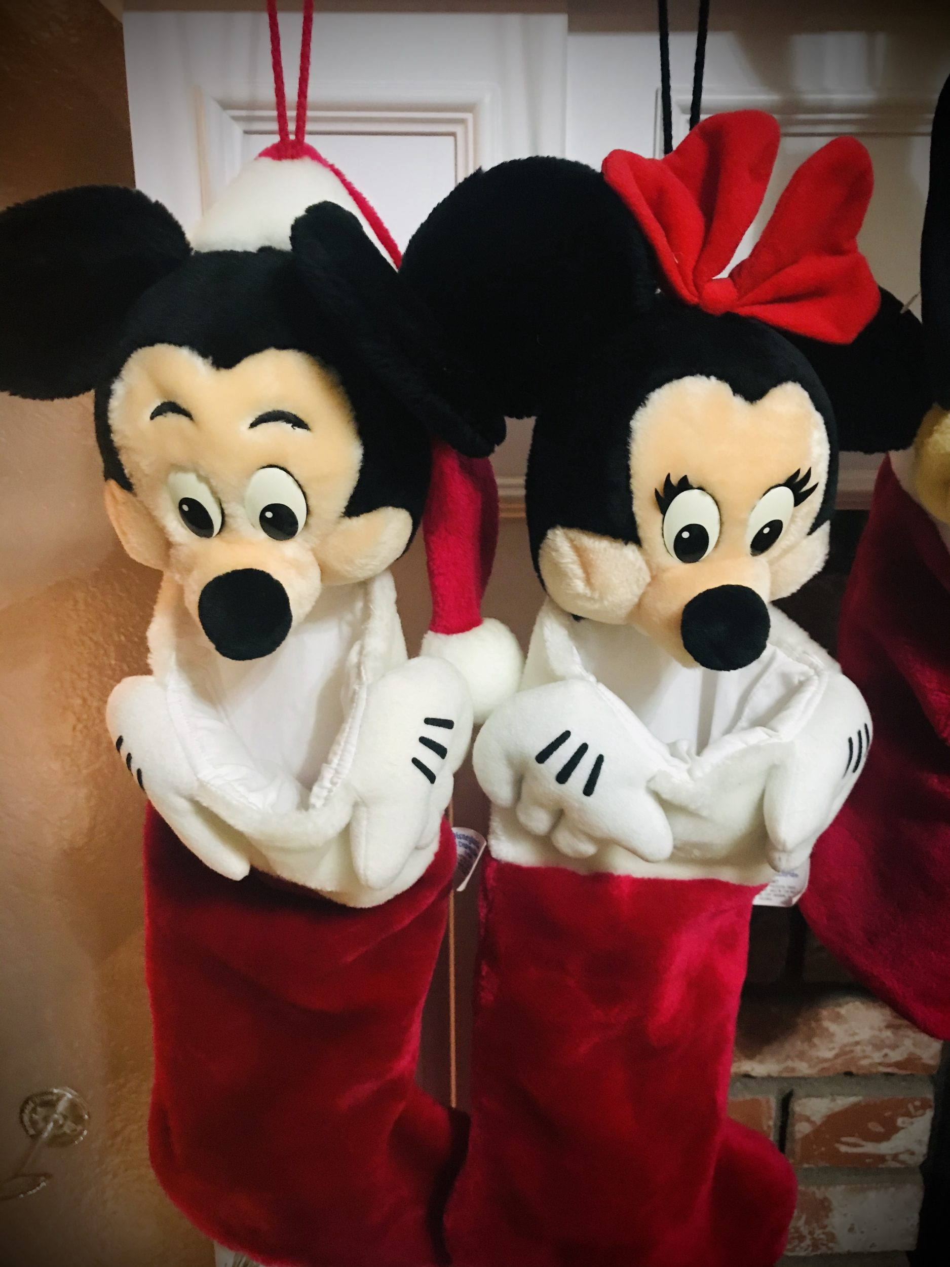 Mickey & Minnie Christmas Stockings purchased in 1995