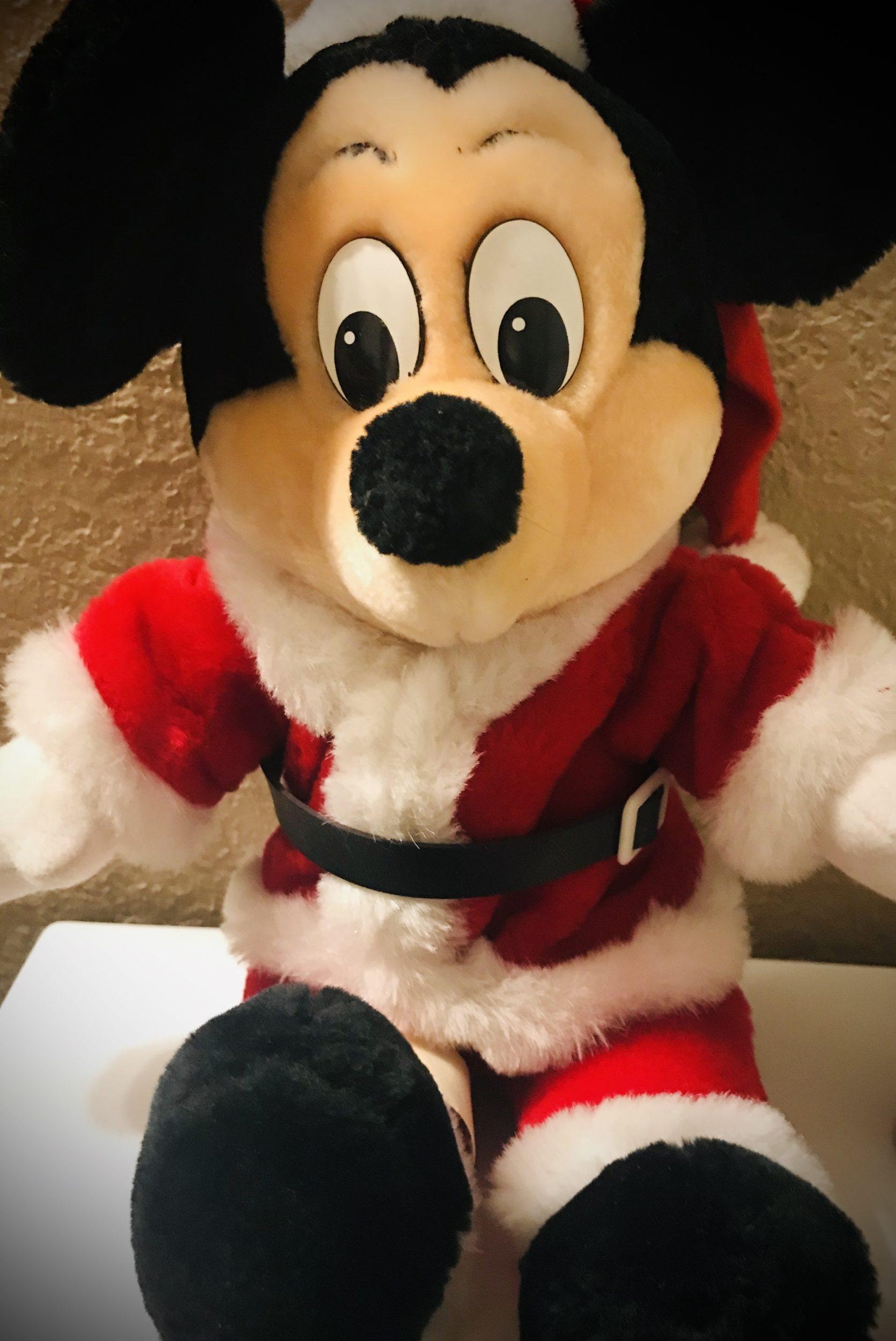 Mickey Santa Stuffed Doll