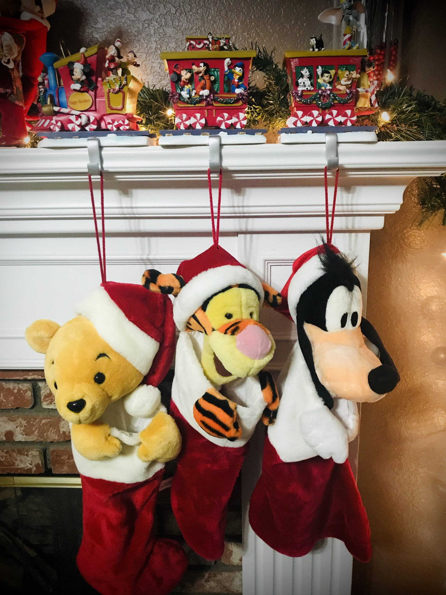 Pooh, Tigger, & Pluto Christmas Stockings