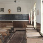 Inside a one-room schoolhouse, photo taken by Denise Colby at Calico, CA