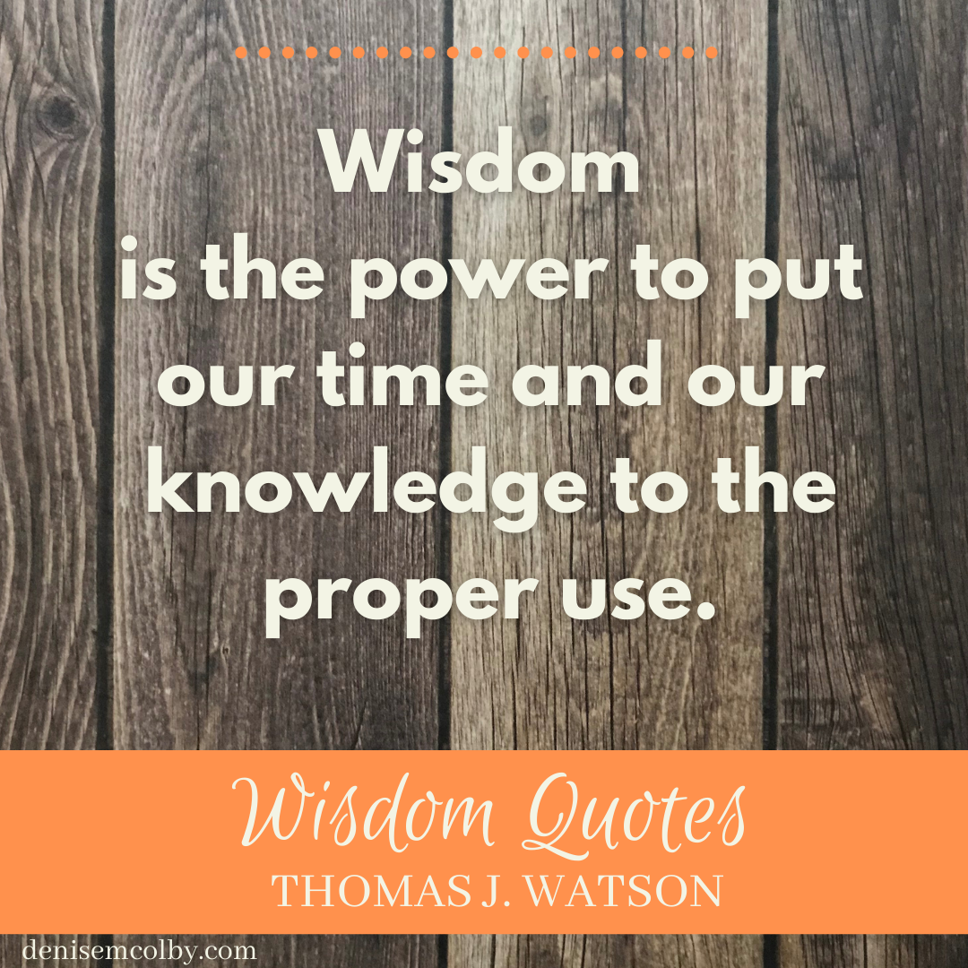 Thomas Watson wisdom quote in cream letters over wooden plank background