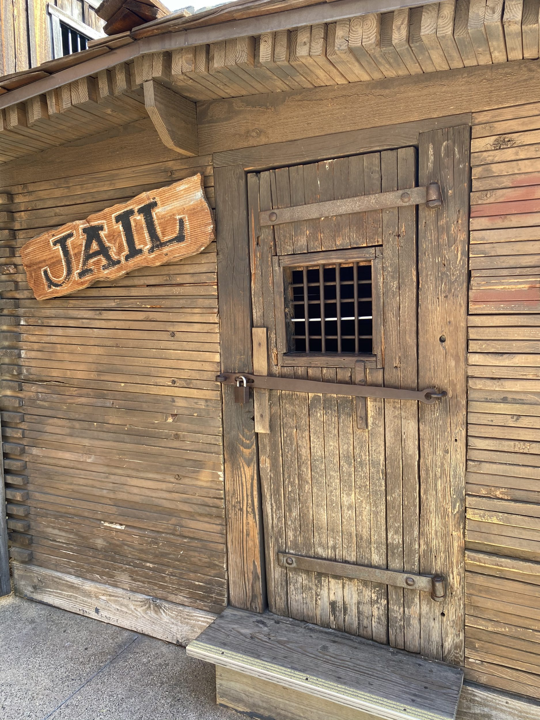 jail building in Ghost Town at Knott's Berry Farm