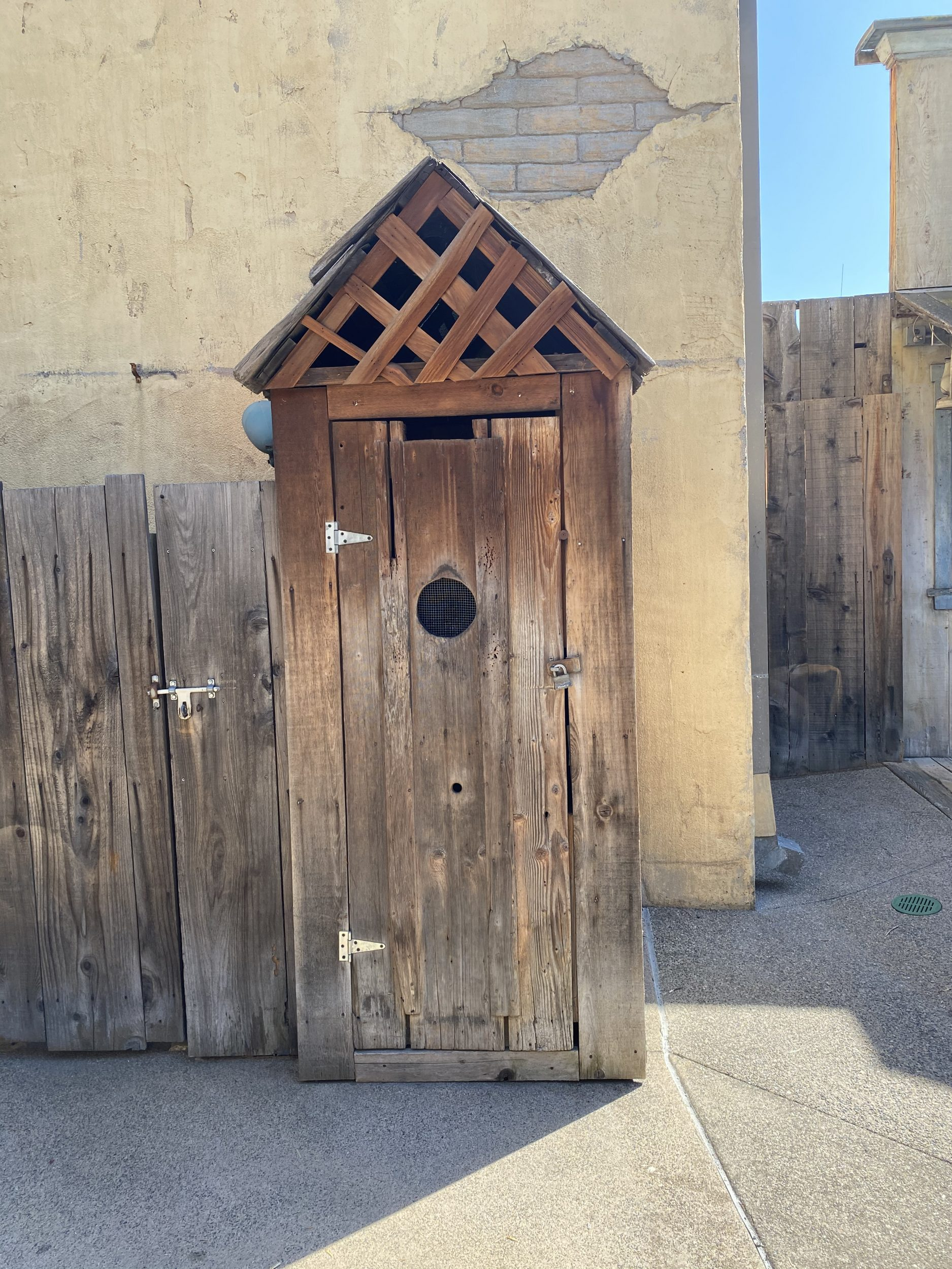What an outhouse looked like back in history